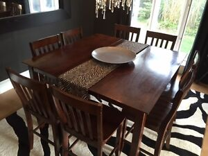 9 Pc. Pub Style Dining Table and 8 Chairs
