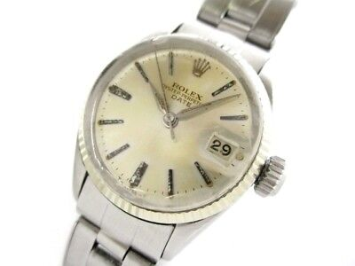 Auth ROLEX Oyster Perpetual Date 6517 Silver Women