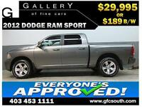 2012 RAM SPORT CREW *EVERYONE APPROVED* $0 DOWN $189/BW