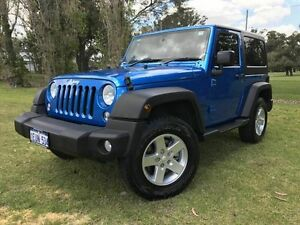 2015 Jeep Wrangler JK MY2015 Sport Blue 6 Speed Manual Softtop Embleton Bayswater Area Preview