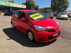 2013 Toyota Yaris NCP130R YR Red 5 Speed Manual Hatchback Lidcombe Auburn Area Preview