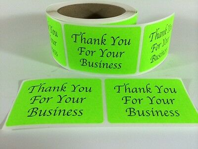 250 Thank You Sticker Label 2x 3 Green Neon Thank You Sticker Label Fragile