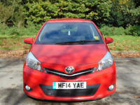 TOYOTA YARIS 1.3 VVT-I ICON PLUS 5d 99 BHP (red) 2014