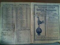 TOTTENHAM HOTSPUR v WEST HAM UNITED FOOTBALL PROGRAMME 1947-8