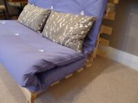 Double Futon Sofa Bed with wooden base and cotton twill mattress