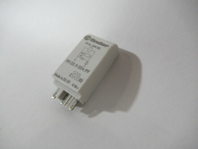 Finder 99.02.9.024.99 Coil Indication & EMC Suppression Module 6-24VDC USED