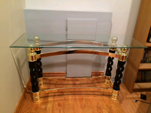 Glass hallway/wall table in great condition
