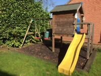 Jungle Gym playhouse, swings and slide, good condition