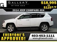 2014 JEEP COMPASS SPORT 4WD *EVERYONE APPROVED* $0 DOWN $129/BW!