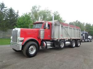 2011 PETERBILT 388 TRI AXLE DUMP, NEW ENGINE, 20' ALUMINUM DUMP