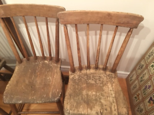 5 Antique Chairs