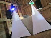 Looking for a DJ that fits in with your wedding decor?
