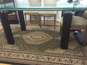 Top Glass Dinning Table for 6-8 peoeple