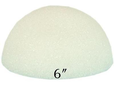 "Floracraft Styrofoam Half Ball Bulk 6"" White Solid"