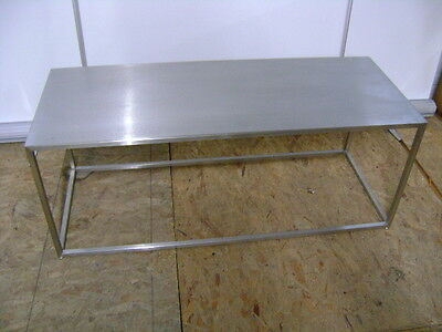 Retail Stainless Steel Finish Modern Style Display Accent Table