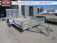 SIDE LOADING ALUMINUM 12' TRAILER 82'' WIDE - LIGHT WEIGHT