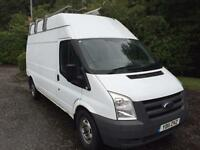 2011 11 FORD TRANSIT 2.2 350 H/R LWB NO VAT ON TOP VAN 115 BHP DIESEL
