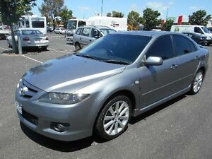 2005 Mazda 6 GG 05 Upgrade Luxury Sports Black 6 Speed Manual Hatchback Maidstone Maribyrnong Area Preview