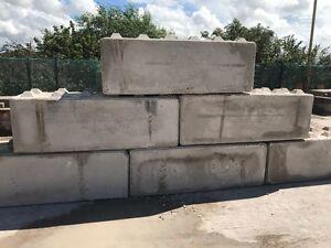 Interlocking concrete blocks, lego, blocks, walls, barrier 1.8m x 0.6m x 0.6m