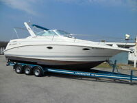 28' LARSON CABRIO CLEAN IN & OUT, WITH MATCHING TRAILER !!