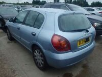 Nissan Almera Tailgate In Blue Breaking For Parts (2004)