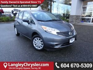 2016 Nissan Versa Note 1.6 SV *ACCIDENT FREE * LOCAL BC CAR *