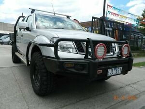 2012 Nissan Navara D40 S6 MY12 ST Silver 6 Speed Manual Dual Cab Williamstown North Hobsons Bay Area Preview