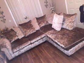 Laurence Llewelyn-Bowen Crushed Velvet Corner Sofa