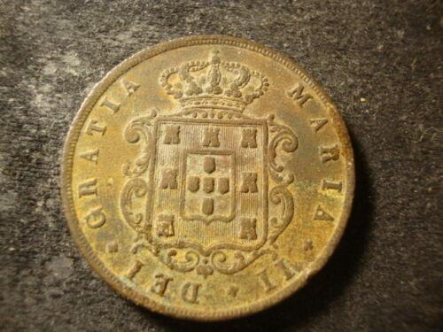 1852  PORTUGAL Twenty 20 Reis Madeira Islands copper COIN ALDZ