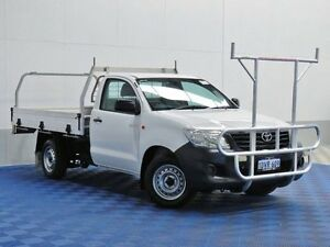 2012 Toyota Hilux TGN16R MY12 Workmate White 5 Speed Manual Cab Chassis East Rockingham Rockingham Area Preview
