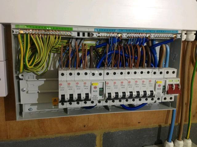 Consumer unit supplied and fitted