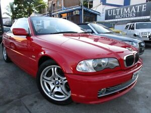 2002 BMW 330CI E46 Steptronic Red 6 Speed Steptronic Convertible Clyde Parramatta Area Preview