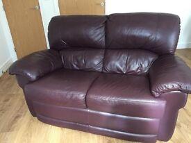 Furniture Village 2 Seater Italian Leather Sofa *great condition*