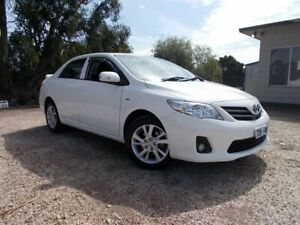 2012 Toyota Corolla ZRE152R MY11 Ascent Sport Glacier White 6 Speed Manual Sedan Bayswater North Maroondah Area Preview