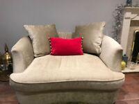 Used Furniture Village - Fabric Snuggler/cuddle armchair