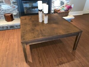 LARGE, Gorgeous Refinished Wooden Coffee Table (3' x 3')