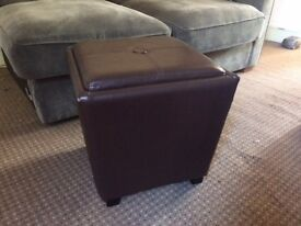 Foot stool with storage and tray for sale