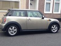 Metallic Silver/beige 1.6 Mini Cooper for sale
