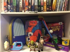 used toys and games also children's books , dress up clothes etc