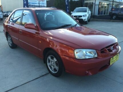 2001 Hyundai Accent LC GLS Orange 4 Speed Automatic Hatchback Mardi Wyong Area Preview