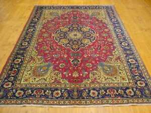TABRIZ 8X11 Tabriz Wool Silk Rugs 75% off