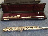 92.5% pure sterling silver Yamaha Flute (YFL 471 H) & FREE sheet music