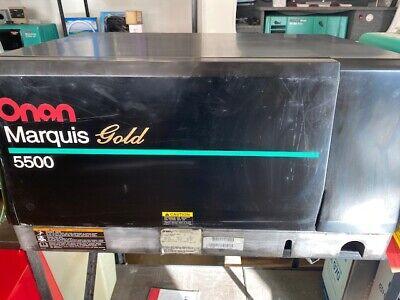 Used Onan 5500 Marquis Gold Gas Generator Model 5.5 Hgjab-1038 A