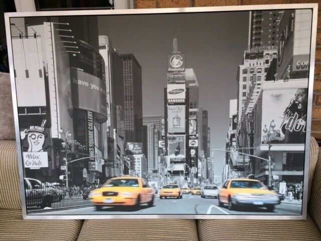 LARGE WOOD AND METAL FRAMED PRINT OF NEW YORK CITY - IKEA