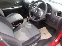 NISSAN MICRA 1.2 ACENTA 5d AUTO 79 BHP (red) 2014