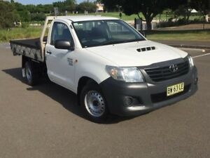 2013 Toyota Hilux KUN16R MY12 Workmate White 5 Speed Manual Cab Chassis Homebush West Strathfield Area Preview