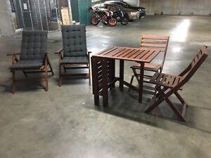 2 IKEA ÄPPLARÖ reclining chairs & ÄPPLARÖ Table+ 2 folding chairs St Leonards Willoughby Area Preview