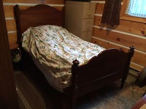 Two Solid Wood Antique Beds