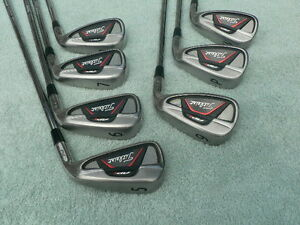 "Titleist AP1 712 iron set, 5-GW, KBS Tour Reg. Steel, +1/2"" long"