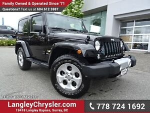 2015 Jeep Wrangler Sahara ACCIDENT FREE W/ 4X4, U-CONNECT BLU...